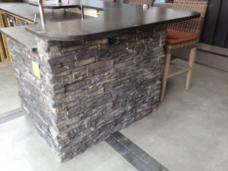 Stone faced bar