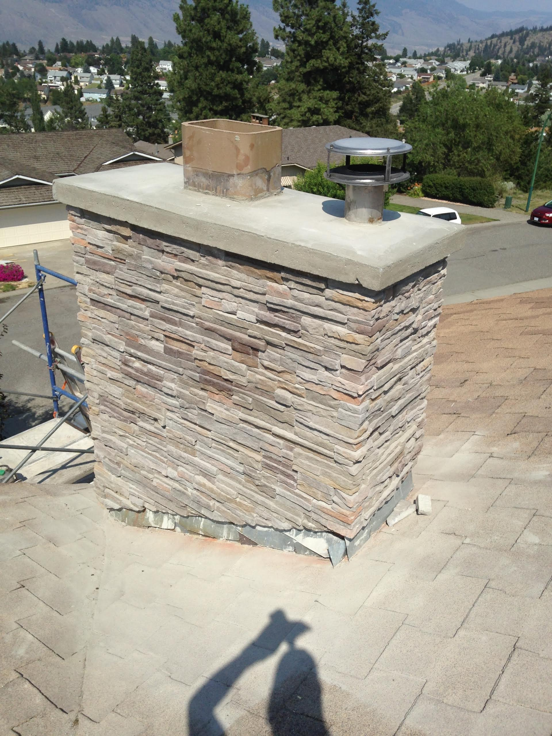 Brick Chimney Refaced