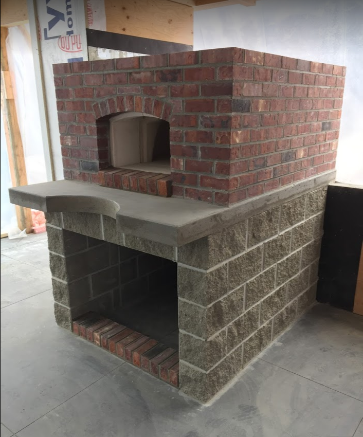 Outdoor brick oven
