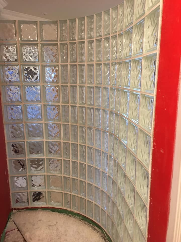 Glass Block Shower